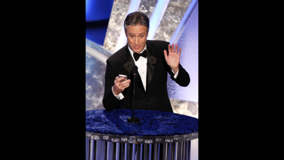 "Two-time host Jon Stewart was entertaining as ever when he took the stage in 2008 after the Hollywood writers' strike had come to an end. With best picture nominees such as ""There Will Be Blood"" and ""No Country for Old Men"" (which won), Stewart joked, ""Does this town need a hug?"" Referencing another contender, ""Juno,"" Stewart added, ""All I can say is thank God for teen pregnancy."""