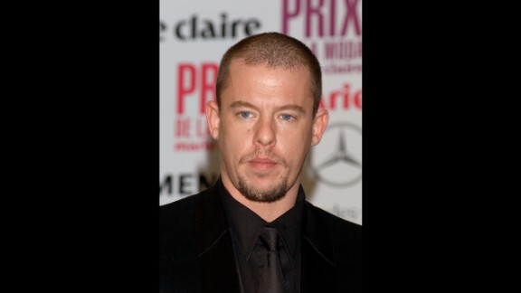 """British designer Alexander McQueen's technical skill as a tailor and boundless imagination at the helm of his own label made him one of his generation's most influential designers, despite earning the monicker """"enfant terrible"""" and his penchant for controversy. Soon after his mother died in February 2010, McQueen took his own life. His former assistant, Sarah Burton, who was named head of McQueen's women's wear line in 2000, took over as creative director following his death. She went on to design Kate Middleton's royal wedding gown as well as sister Pipa's head-turning maid of honor dress."""