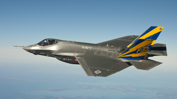 In this image released by the U.S. Navy, the Navy variant of the F-35 conducts a test flight on February 11, 2011.