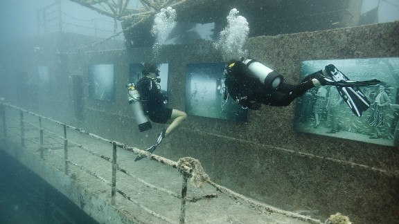 """More than 10,000 divers visited the underwater gallery. """"It"""