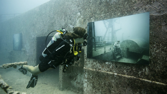 """""""One of the cool things with an underwater gallery is you"""