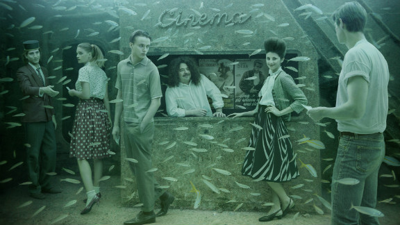 """""""I used an underwater camera to shoot open locations where I thought I could add people in,"""" Franke said."""