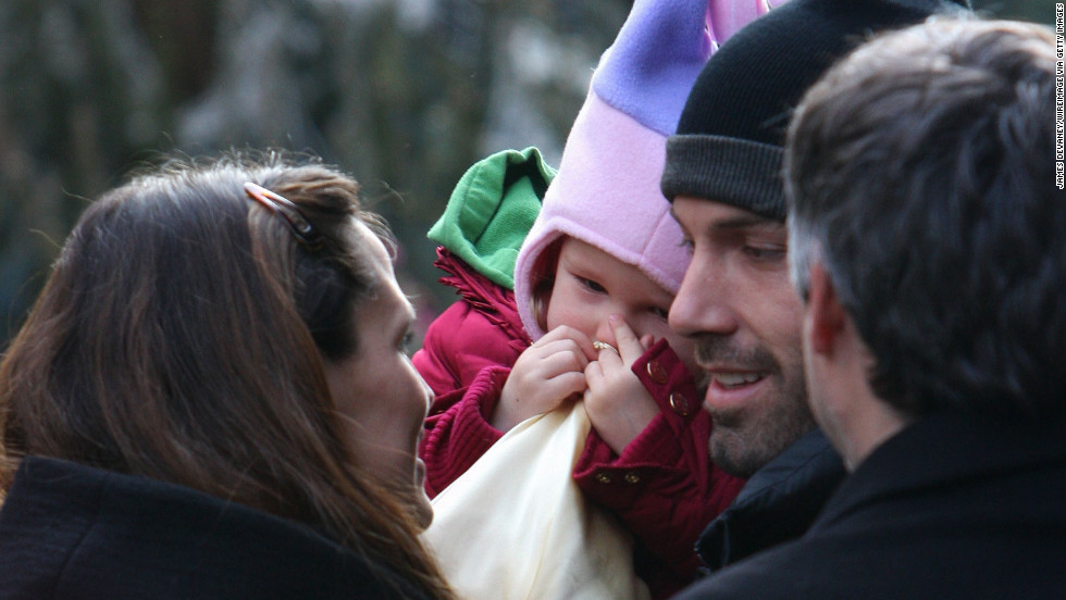 Jennifer Garner, Affleck and their firstborn, Violet, spend time together as a family in New York in 2007.