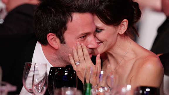 Affleck and Jennifer Garner show their love at the 2011 Critics' Choice Movie Awards.