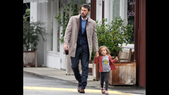 Ben Affleck and Serafina take a stroll in Los Angeles in 2012.