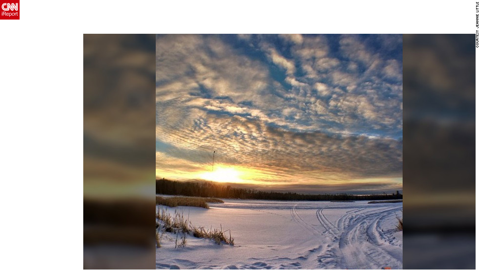 "While on the Fisherman's Point Campground in Hoyt Lakes, Minnesota, <a href=""http://ireport.cnn.com/docs/DOC-931994"" target=""_blank"">Jeannie Little</a> captured this picturesque shot on Instagram while scouting for the perfect snowflake."