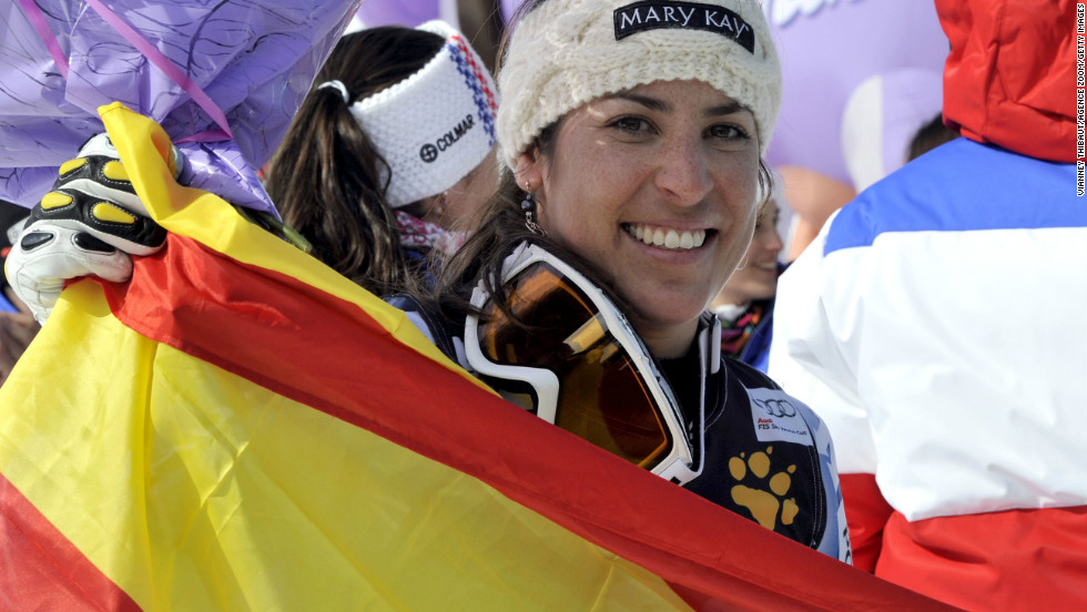 Carolina Ruiz Castillo became the first Spanish woman to win a World Cup downhill in the first ladies' event to be held at Meribel in France since 1994.