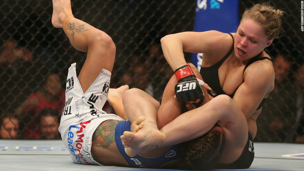 She was undefeated in her first six fights in the UFC and her first 10 as an MMA star.
