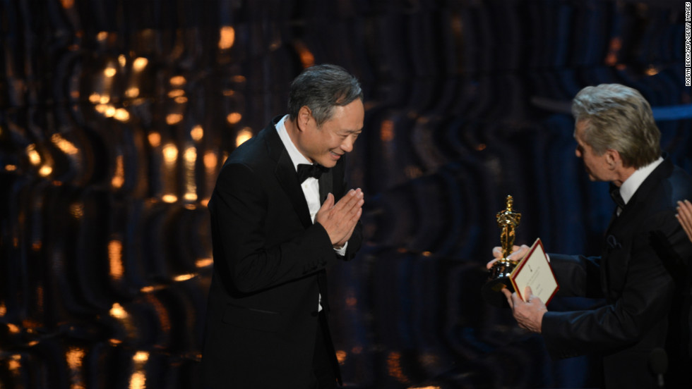 "<strong>Ang Lee, best director:</strong> Ang Lee accepted his second Oscar for directing as the audience stood on their feet in a standing ovation. ""Thank you movie god,"" Lee said, adding, ""I want to thank you for believing in this story."" He noted that he shares the award with everyone who worked with him on ""Life of Pi."""