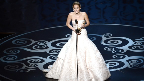 "Jennifer Lawrence, best actress: First-time Oscar winner Jennifer Lawrence tripped as she climbed the steps to accept her award, but the ""Silver Linings Playbook"" star quickly recovered. As she thanked her cast and family, Lawrence was sure to wish fellow best actress nominee Emmanuelle Riva a happy 86th birthday."