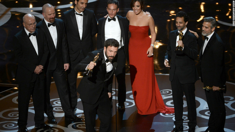 "<strong>""Argo,"" best picture:</strong> Director and producer Ben Affleck joined producers Grant Heslov and George Clooney, as well as the ""Argo"" cast, to accept the award. Heslov was sure to thank Affleck for his directing, after he was not nominated in that category. <a href=""http://www.cnn.com/2013/02/24/showbiz/movies/85th-oscars-2013-winners-list/index.html?hpt=en_c2"">See the full list of winners.</a>"