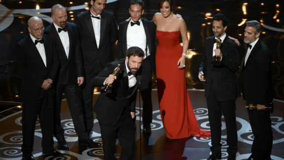 """Argo,"" best picture: Director and producer Ben Affleck joined producers Grant Heslov and George Clooney, as well as the ""Argo"" cast, to accept the award. Heslov was sure to thank Affleck for his directing, after he was not nominated in that category. See the full list of winners."