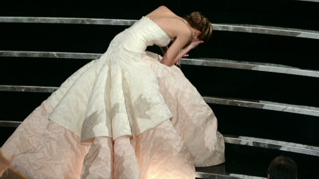 Jennifer Lawrence's Oscar night fall