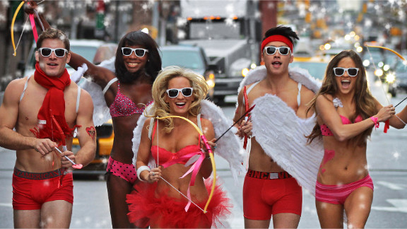 """Not quite ready to go bareback? Cupid's Undie Run aims to raise money for <a href=""""http://cupidsundierun.com/13/"""" target=""""_blank"""" target=""""_blank"""">The Children's Tumor Foundation</a> by having participants race about a mile in their underwear every Valentine's Day weekend."""