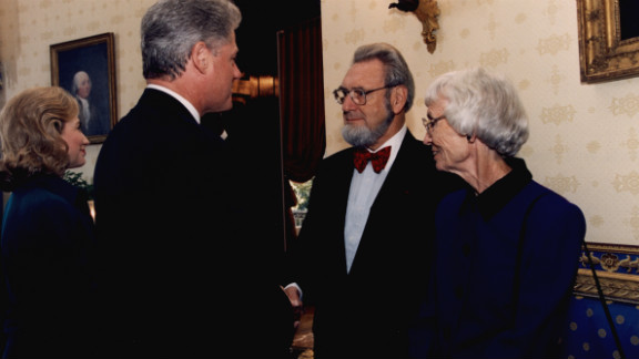 President Clinton presents Koop with the National Medal of Freedom on September 29, 1995.