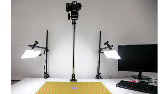 Outbox is constantly tweaking its process for turning physical mail into digital files. This is one current setup for photographing and scanning mail.