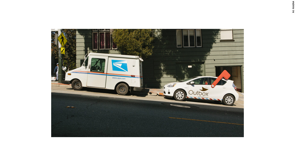 "Outbox, a new startup, seeks to cut down on paper clutter by digitizing subscribers' physical mail. The service is launching in San Francisco, where an Outbox ""unpostman"" drives around in a Toyota Prius emblazoned with the Outbox logo and a giant plastic mailbox flag."