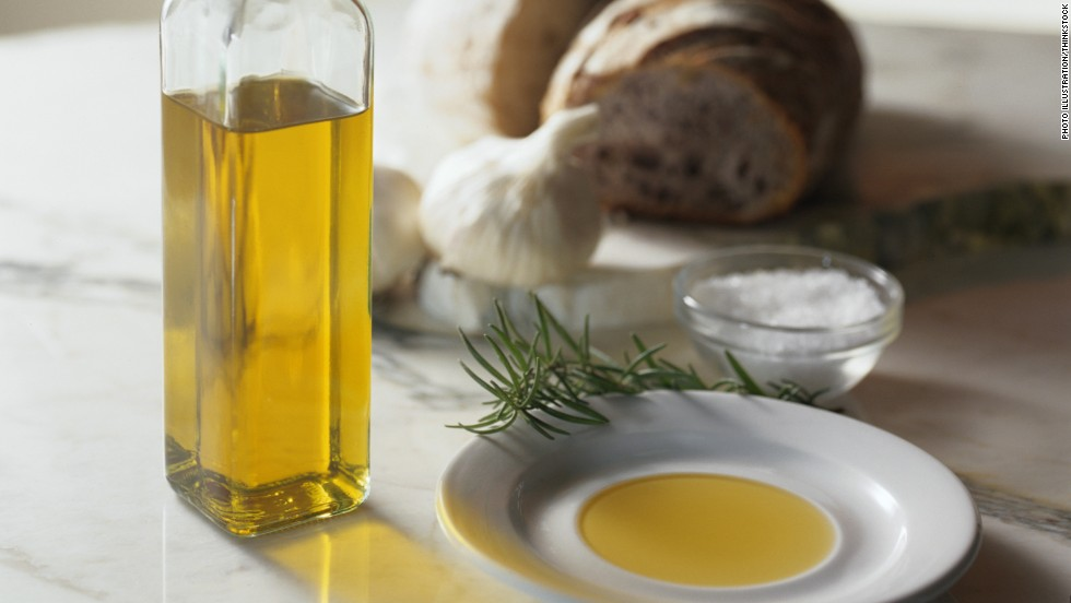 Doctors suggest using olive oil rather than butter to make your meals. A Spanish study found a Mediterranean diet supplemented with extra-virgin olive oil reduced the incidence of major cardiovascular events among patients with a history of heart disease.