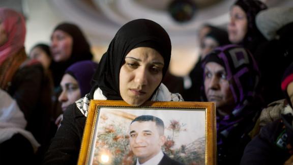 The funeral Arafat Jaradat in the village of Saair in the West Bank.