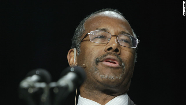 Dr. Ben Carson garnered attention in 2013 when he criticized Democratic policies on taxes and health care.