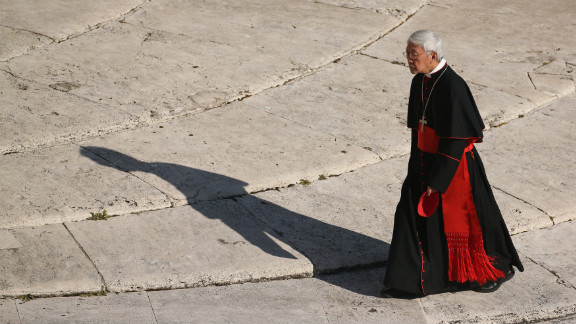 A cardinal arrives in St. Peter