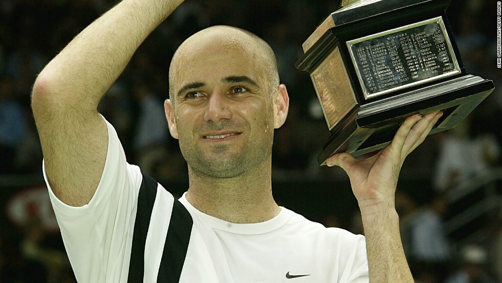 Andre Agassi's eighth and final grand slam win came at the 2003 Australian Open. He had won three by early 1995, but had to wait another four years for his next.