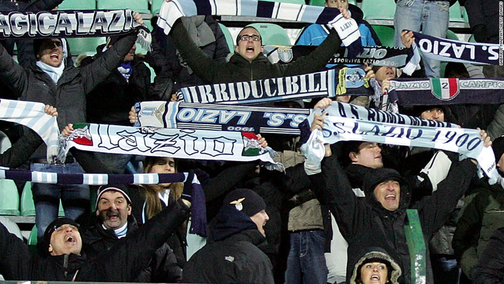 Serie A side Lazio was punished four times during the 2012-13 season due to racist offenses by its fans in European matches.