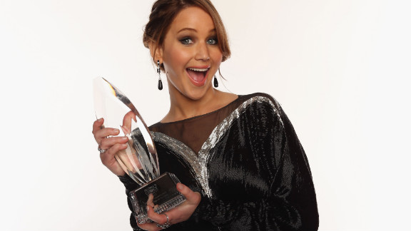 "Doesn't this portrait during the 39th Annual People's Choice Awards in January 2013 just scream ""Parrrrrrtttay!"""