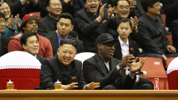 VICE photos of Dennis Rodman and the Harlem Globetrotters in North Korea with Kim Jong-un