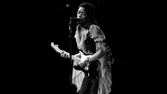 "Hendrix performs at Madison Square Garden in 1969: ""I was always mesmerized by the transformation of Jimi's persona from the shy, soft-spoken individual into the towering monster guitarist that appeared on stage demolishing everything in his path with waves of intense sound. I rarely attended Jimi's shows as just a fan and not being in a mobile truck recording him,