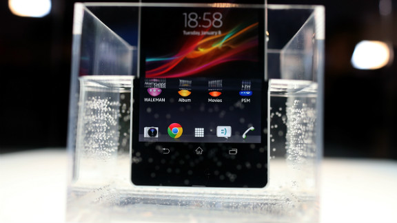 Sony says its Xperia Z phone can withstand being submerged in roughly 3 feet of water for up to 30 minutes.