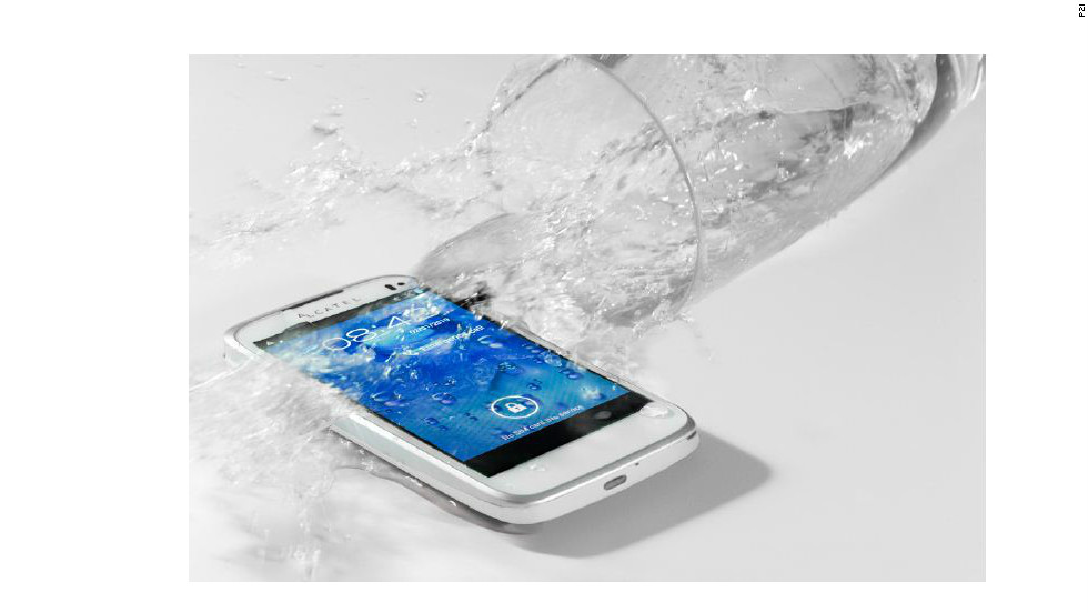 P2i says its invisible, liquid-repellent nano-coating makes phones such as Alcatel's One Touch 997 impervious to water.