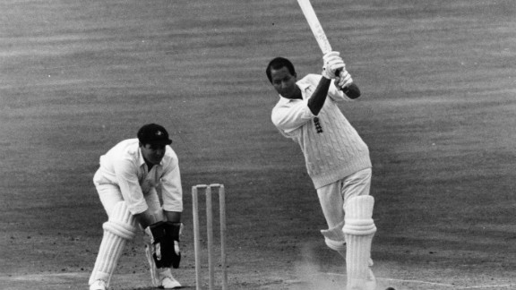 """Basil D'Oliveira, affectionately known as """"Dolly,"""" played 44 Tests for England, scoring 2,484 runs at an average of 40 and taking 47 wickets with his right-arm medium-pace bowling."""