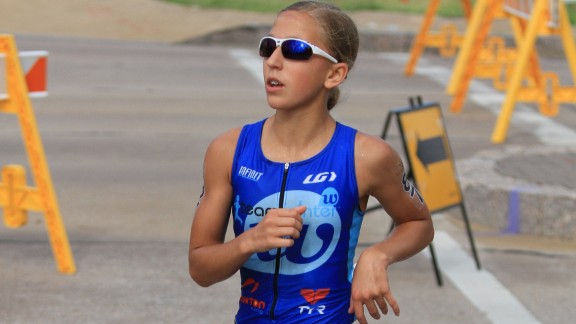 """Winter is a two-time IronKids National Triathlon champion. """"Each first-place trophy she receives is sent to a person affected by prostate cancer as a means of support and a gesture of goodwill,"""" according to her web site."""