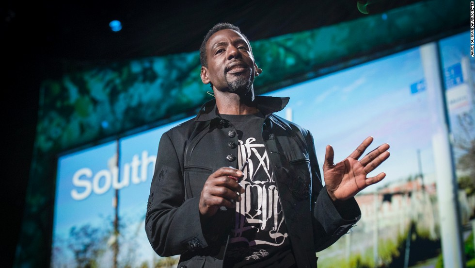 "Ron Finley is organizing efforts to grow healthy food in the ""food desert"" of South Central Los Angeles."
