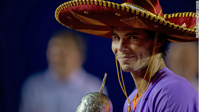 Rafael Nadal defeated fellow Spaniard David Ferrer to win the Mexican Open
