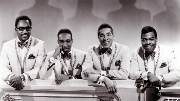 From left, Bobby Rogers, Ronald White, Smokey Robinson and Pete Moore of the Miracles circa 1965.