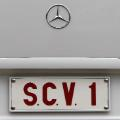 Popemobile licence plate