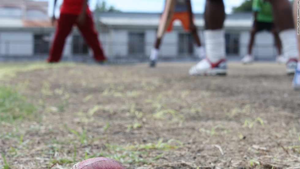 The CNN World Sport documentary team visited a cricket clinic for kids in the island's capital Bridgetown.