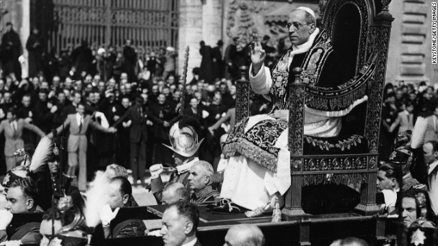 Pope Pius XII was praised by world leaders following WW2 but his reputation deteriorated after his death in 1958.