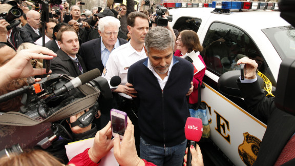 """In 2012, actor George Clooney was arrested for civil disobedience during a protest outside the Sudanese Embassy. Clooney, who appeared in the documentary """"Darfur Now,"""" has advocated vehemently for a resolution of the Darfur conflict. Here are some other celebrities' forays into international diplomacy:"""