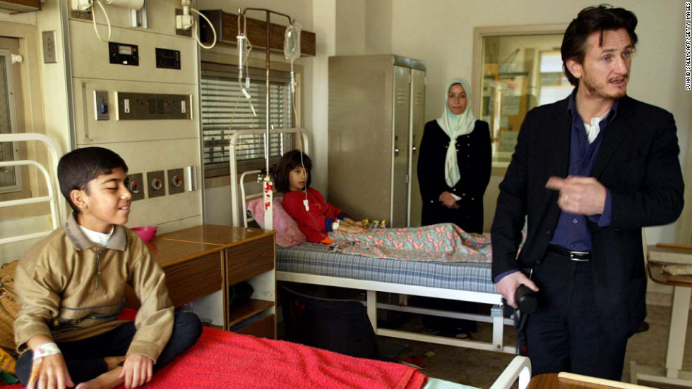 In 2002, a year before the Iraq war began, actor Sean Penn met with Iraqi Deputy Prime Minister Tariq Aziz and paid a visit to al-Mansour Children's Hospital in Baghdad. Aziz says Penn spoke very strongly against aggression against Iraq by U.S. forces. In 2007, Penn also visited Chavez, to whom he penned a letter criticizing Bush.