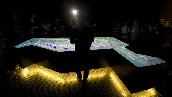 Journalists are shown a virtual tour of the city organized by the Rio 2016 Committee on November 19, 2012 in Rio De Janeiro, Brazil.