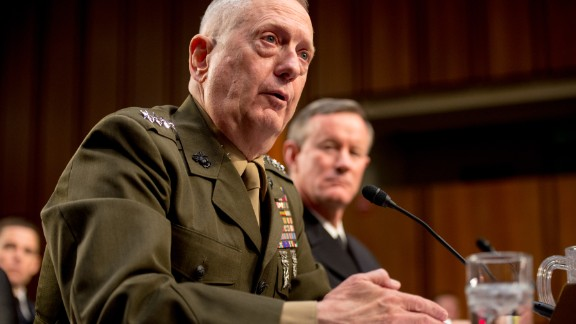 Commander of the US Central Command Gen. James N. Mattis testifies before the Senate Armed Services Committee for a review of the defense authorization request for fiscal year 2014 and the future years of the defense program on Capitol Hill, Washington, DC, Tuesday, March 5, 2013.