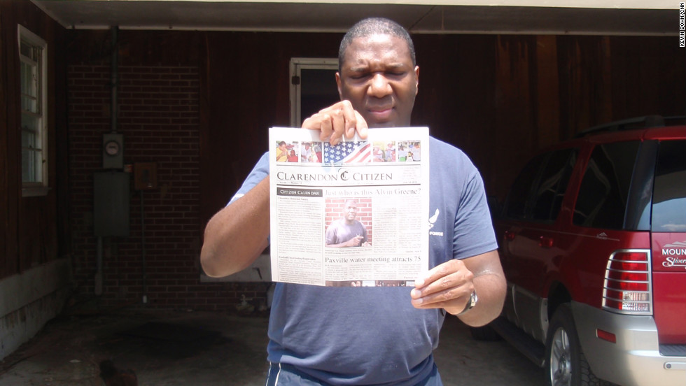 "<strong>The mystery of Alvin Greene:</strong> When Alvin Greene suddenly won the Democratic primary for U.S. Senate in South Carolina, experts asked, ""Who?"" Greene didn't campaign, had no political experience and was rarely seen in public. A CNN interview led to more questions of whether Greene, pictured, was intellectually capable of running a viable campaign. Others felt that Greene was planted by Republican Sen. Jim DeMint, who was running for re-election. Greene was cleared by the South Carolina Law Enforcement Division before he lost overwhelmingly to DeMint."