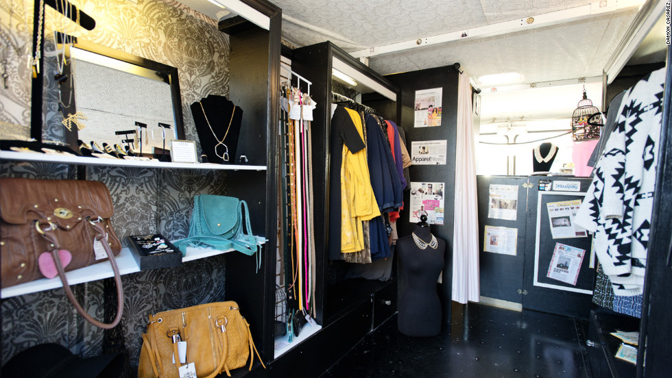 Like many fashion trucks, Le Fashion Truck in Los Angeles carries independent labels and products from local designers.