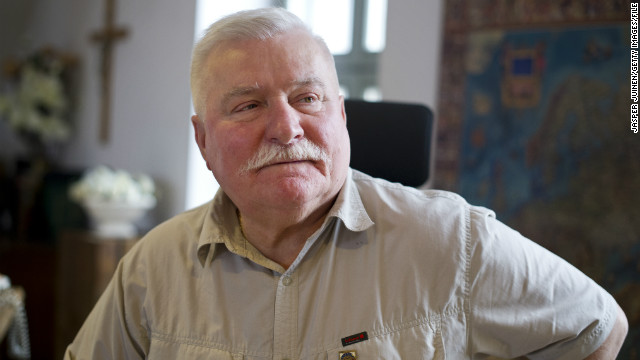 GDANSK, POLAND - JUNE 20: Former Polish President and Nobel Peace Laureate Lech Walesa listens while speaking with journalists at his office on June 20, 2012 in Gdansk, Poland. (Photo by Jasper Juinen/Getty Images)