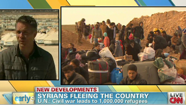 U.N.: Syrian exodus reaches 1 million
