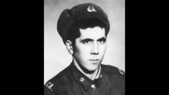 Khakimov, who was found in Afghanistan after 33 years, as a young soldier.