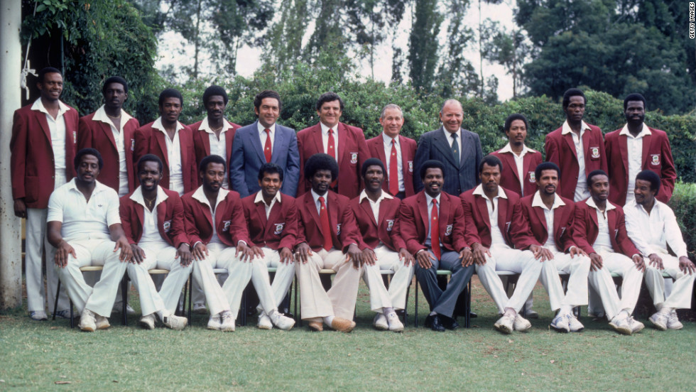 "A photograph of the West Indian players during the first ""rebel tour"" in Johannesburg in February 1983."